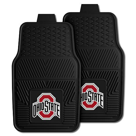 Officially Licensed NCAA 2pc Vinyl Car Mat Set - Ohio State