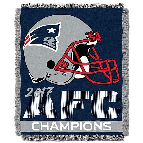 Officially Licensed NFL 2017 AFC Champs Jacquard Throw - Patriots