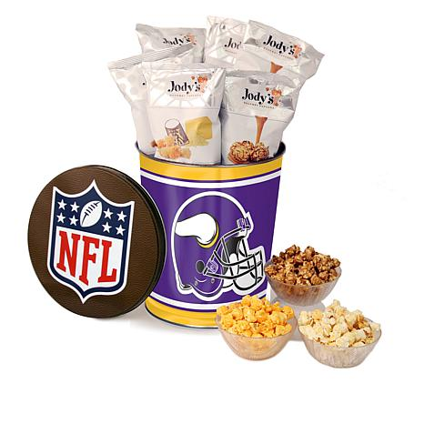 Officially Licensed NFL 3-gallon Tin w/Jody's Popcorn