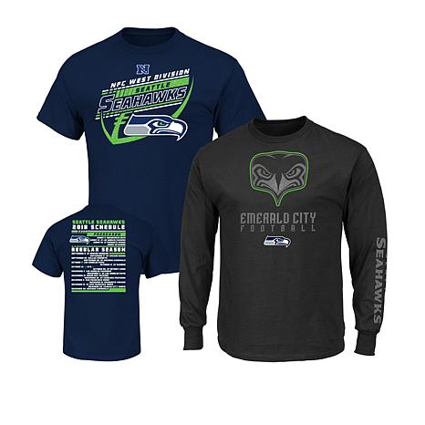 b3cd3f4b Officially Licensed NFL 3-in-1 T-Shirt Combo by Fanatics - Seahawks