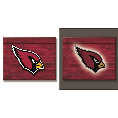 Officially Licensed NFL Backlit Wood Plank Wall Sign - Cardinals