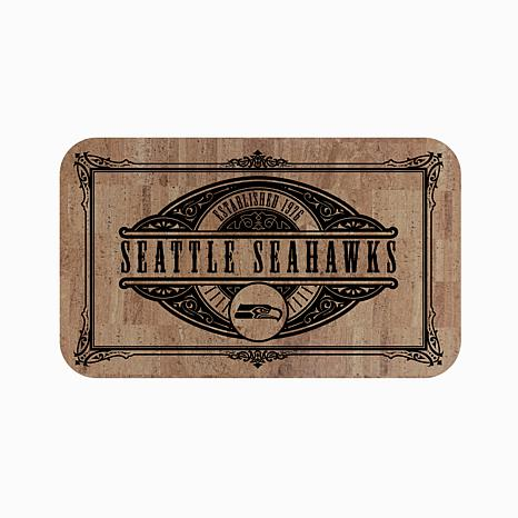 Officially Licensed NFL Cork Comfort Mat - Seattle Seahawks