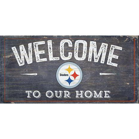 Officially Licensed NFL Distressed Welcome Sign