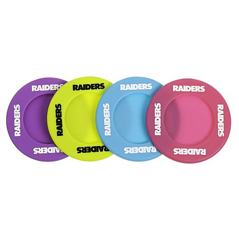 Officially Licensed NFL Grab-n-Go Silicone Wine Coasters - Raiders