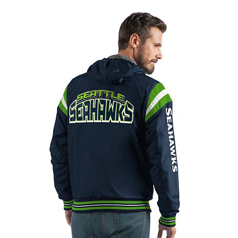 meet 960a5 a91e1 Officially Licensed NFL Hardball Reversible Hooded Jacket by Glll - Seahawks