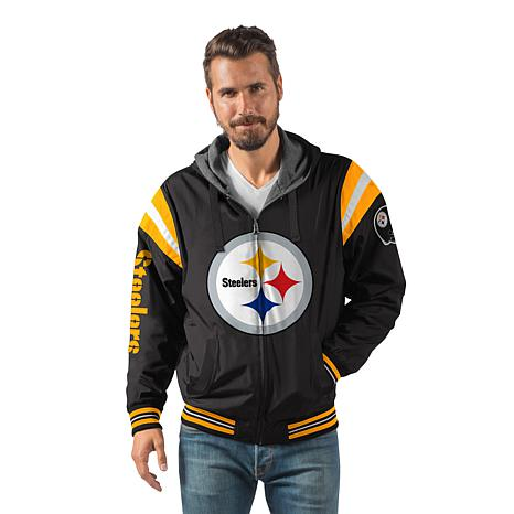 huge discount b75a5 66cd5 Officially Licensed NFL Hardball Reversible Hooded Jacket by Glll - Steelers