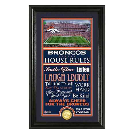 22d41e737746 Officially Licensed NFL House Rules Team Sign with Bronze Mint Coin