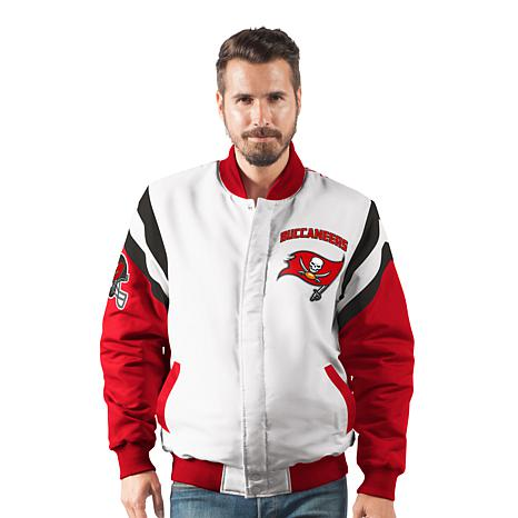 new style c1a5f 0cd86 Officially Licensed NFL Men's Commander Varsity Jacket by Glll - Bucs