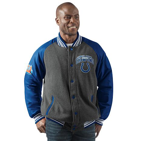 6e4b227c68f Officially Licensed NFL Men's Power Hitter Varsity Jacket by Glll ...
