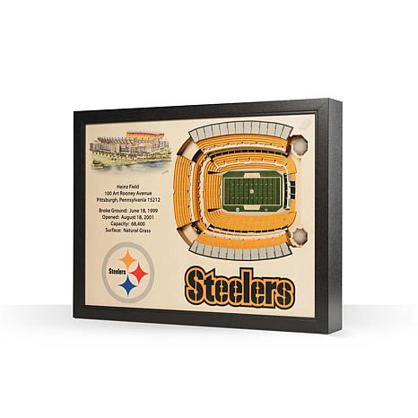 Officially Licensed NFL Pittsburgh Steelers StadiumView 3D Wall Art -  8924779  531bc5749