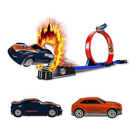 Officially Licensed NFL Racers - 2 Cars & Track Set- Denver Broncos