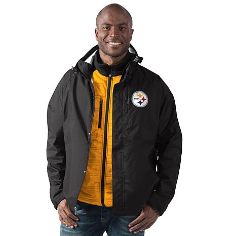 watch 58eca 5dc0d Officially Licensed NFL Reinforce 3-in-1 Systems Jacket by Glll - Steelers