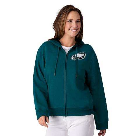 wholesale dealer 256d4 ab516 exclusive! Officially Licensed NFL Women's Full-Zip Hoodie by Glll - Eagles