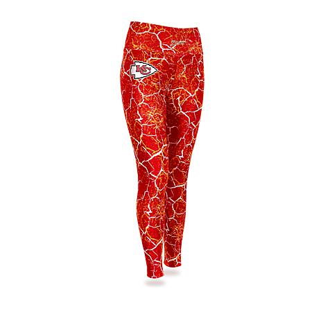 ab40351f Officially Licensed NFL Women's Marble Crackle Legging by Zubaz - Chiefs