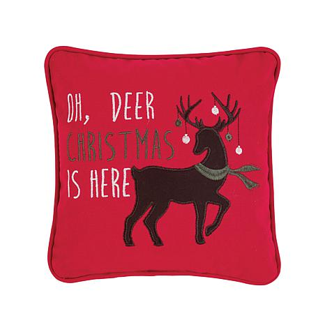 Oh Deer Christmas Pillow 9258857 Hsn