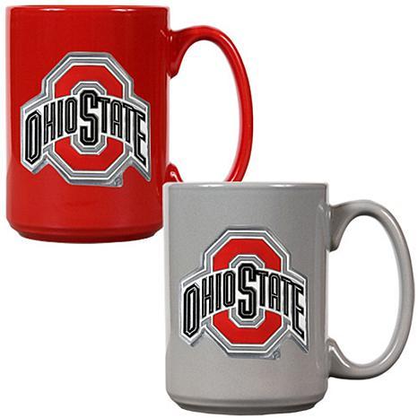 Ohio State Buckeyes 2pc Coffee Mug Set