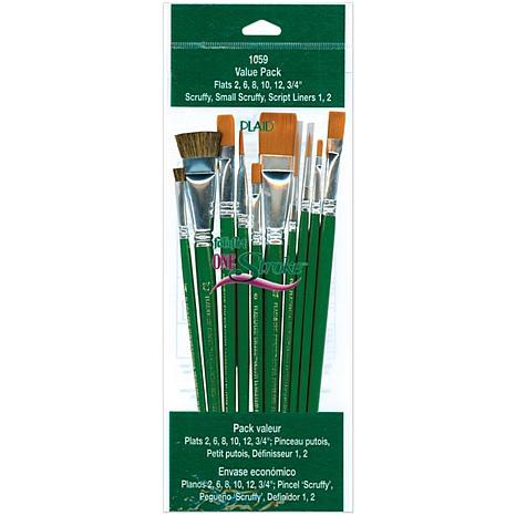 One-Stroke Brush Set - 10 Brushes