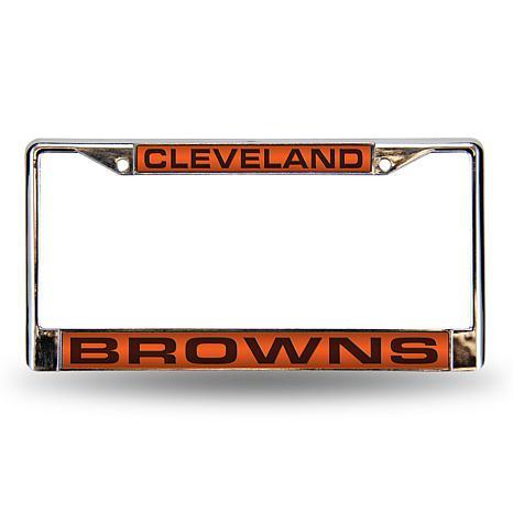 Orange Laser Chrome License Plate Frame - Cleveland Browns - 7574708 ...