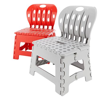 Wondrous Organizeme 2 Pack Folding Chair Step Stools Alphanode Cool Chair Designs And Ideas Alphanodeonline