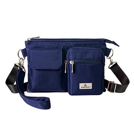 Organizzi 3-way RFID Fanny Pack, Wristlet and Crossbody Bag