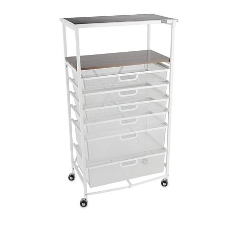 Origami Foldable 6-Drawer Hobby and Home Cart