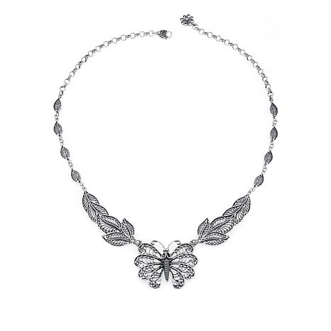 "Ottoman Silver  ""Butterfly"" 16"" Necklace"