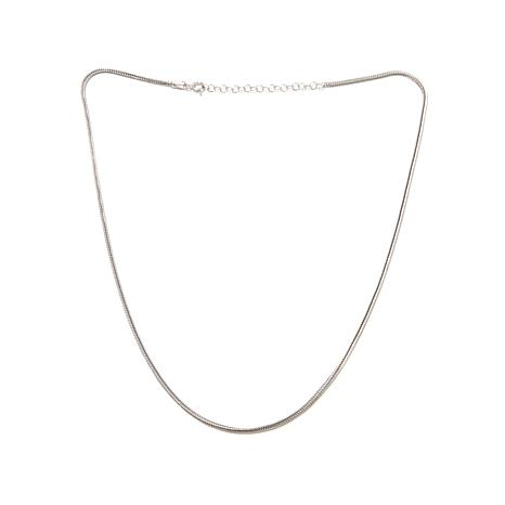 """Ottoman Silver Jewelry 18"""" Foxtail Chain Necklace"""