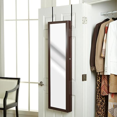 Over-the-Door Beauty Armoire with Full-Length Mirror ...