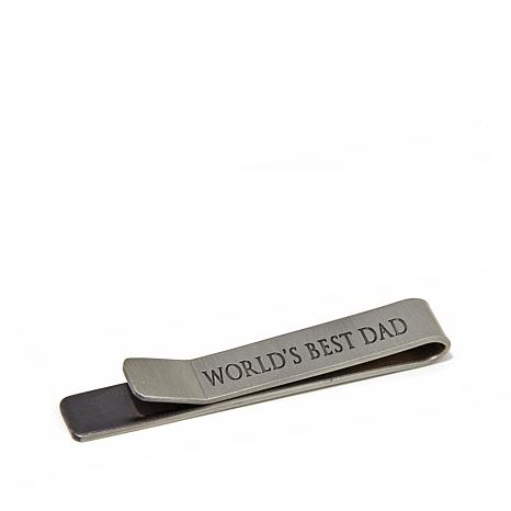 "Ox & Bull Trading Co. Men's ""World's Best Dad"" Tie Bar"