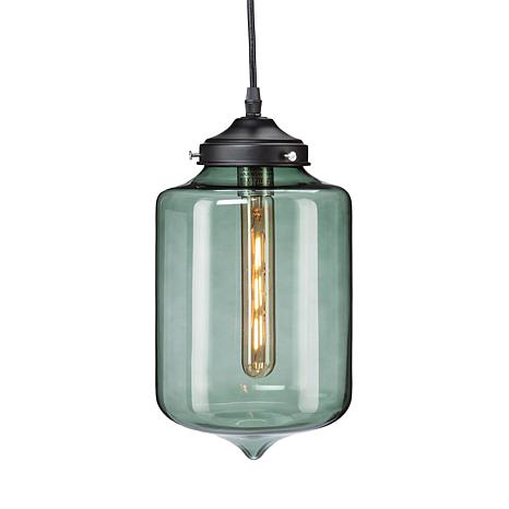 Oxford Colored Glass Pendant Lamp - Smoky Green