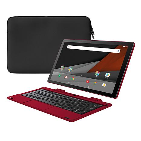 """Packard Bell 10"""" 32GB Quad-Core Android Tablet with Keyboard & Sleeve"""