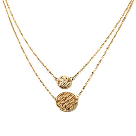 "Passport to Gold 14K ""Astro"" Mesh Disc 18"" Necklace"