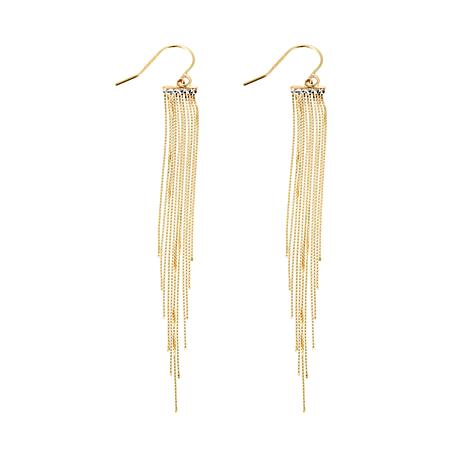 Passport to Gold 14K Box Chain Fringe Drop Earrings