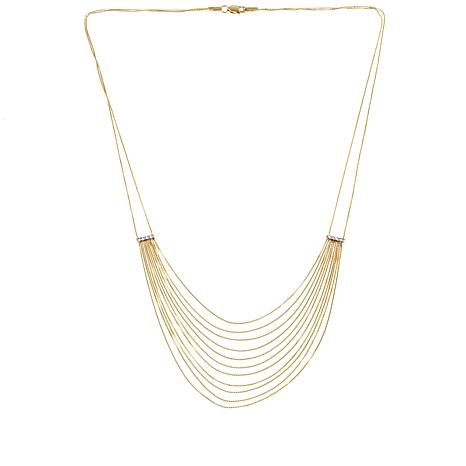 "Passport to Gold 14K Box Chain ""Waterfall"" 17"" Necklace"