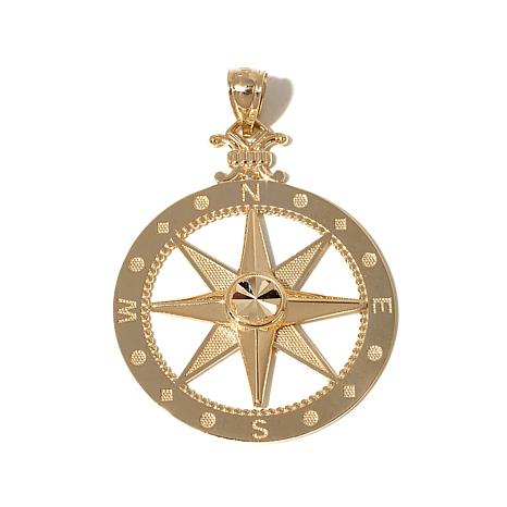 "Passport to Gold 14K ""Compass"" Pendant"