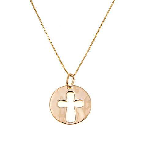 Passport to Gold 14K Cutout Cross Pendant with Chain
