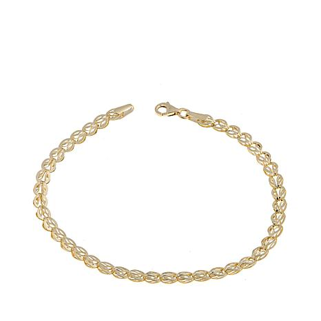 "Passport to Gold 14K ""Ever Leaf"" Link 7-1/2"" Bracelet"