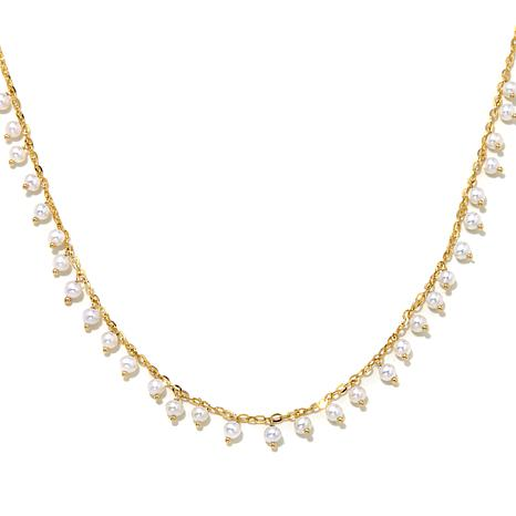 Passport to Gold 14K Forzatina and Seed Pearl Necklace