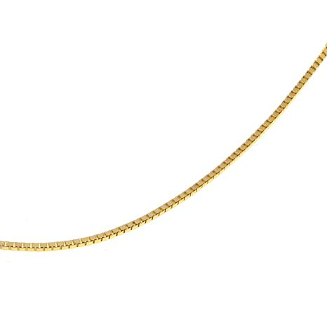 """Passport to Gold 14K Gold 1mm Box Chain 30"""" Necklace"""