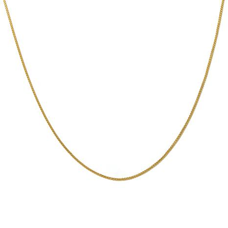 "Passport to Gold 14K Gold 1mm Wheat-Chain 16"" Necklace"