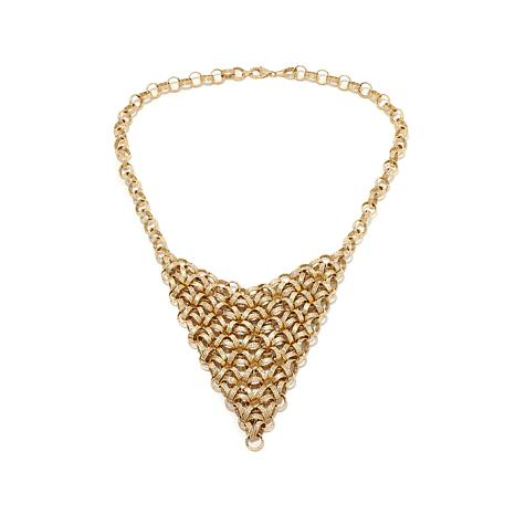 """Passport to Gold 14K Gold Intricate Link 18"""" Necklace"""