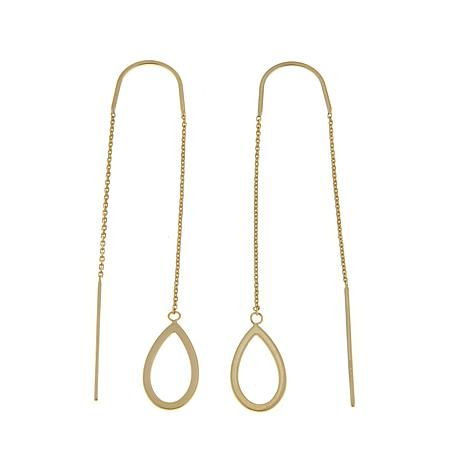 Passport to Gold 14K Gold Teardrop Threader Earrings