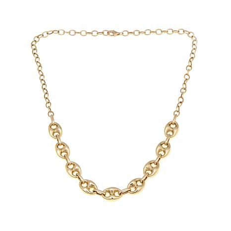 "Passport to Gold 14K Mariner Link 18"" Necklace"