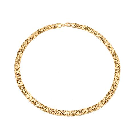 "Passport to Gold 14K Mirror Byzantine Link 16"" Necklace"