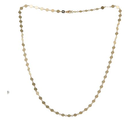 "Passport to Gold 14K Polished Disc 18"" Necklace"