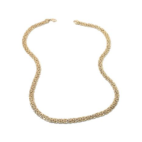 "Passport to Gold 14K Reversible Byzantine 18"" Necklace"