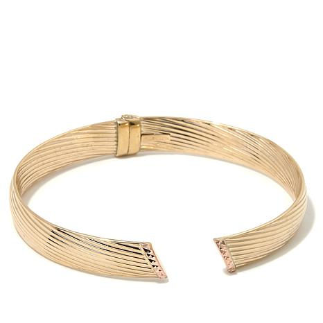 Passport to Gold 14K Rose Gold Lined Bangle Bracelet