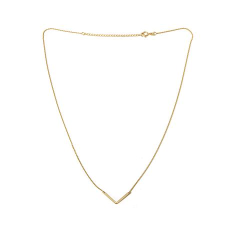 "Passport to Gold 14K ""V""-Shape 16"" Necklace"