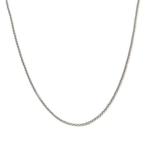 "Passport to Gold 14K White Gold 1.9mm Rolo 16"" Necklace"