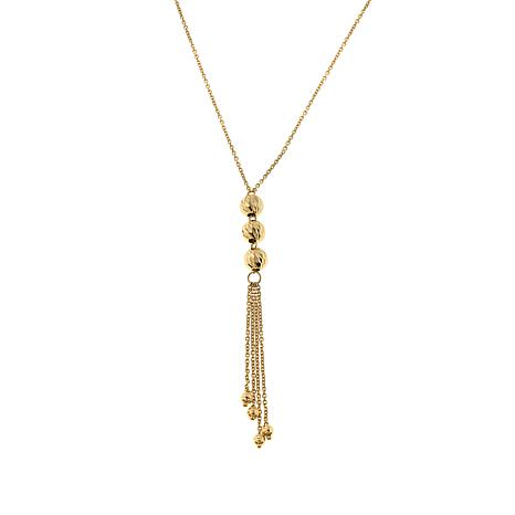"Passport to Gold 14K Yellow Gold Beaded Fringe Drop 22"" Necklace"
